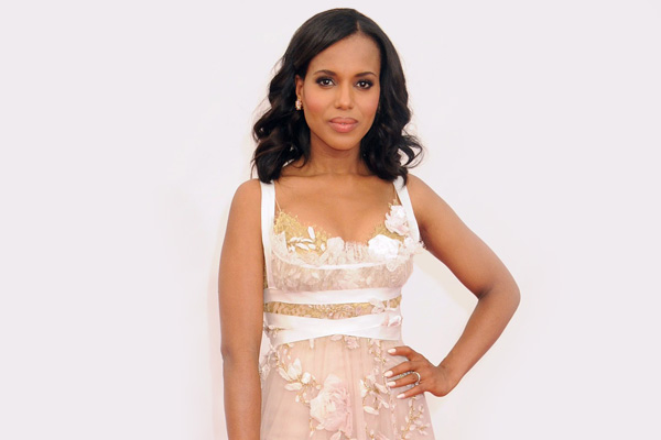 Kerry Washington in white dress
