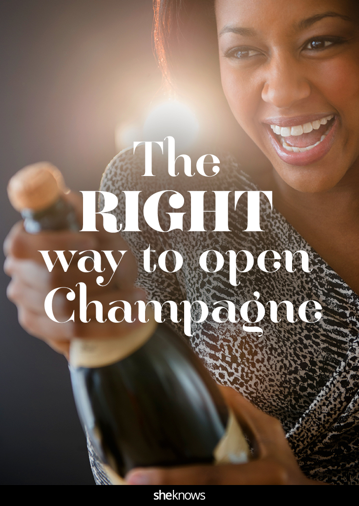 the right way to pop champagne