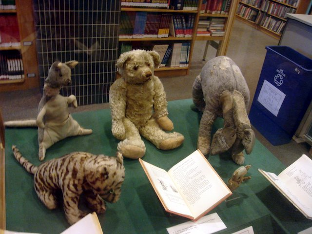 The real stuffed animals from Winnie the Pooh