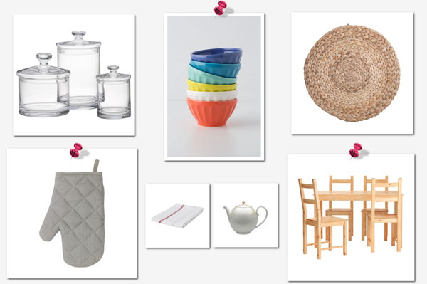 Things Every Needs For Her First Apartment Kitchen Collage