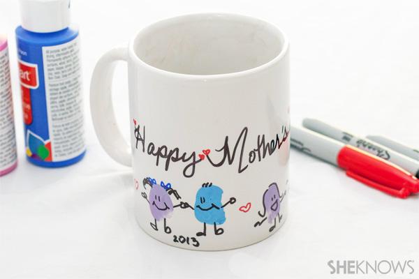 Mother's Day thumbprint tea mug
