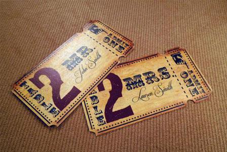 Ticket escort card
