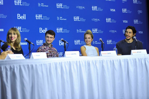Tiff Panel for The F Word with Daniel Radcliffe, Adam Driver and Zoe Kazan