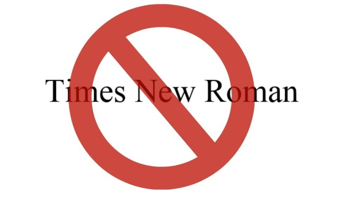 Why Times New Roman is an
