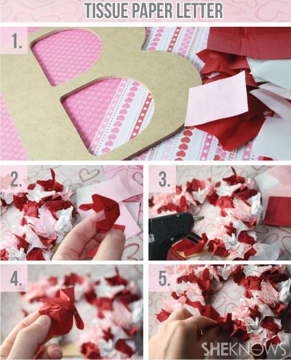 Tissue paper letter
