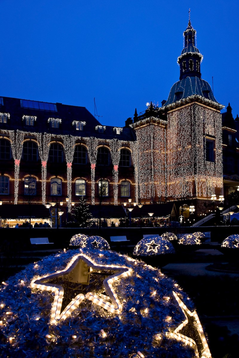 Tivoli Gardens Copenhagen at night