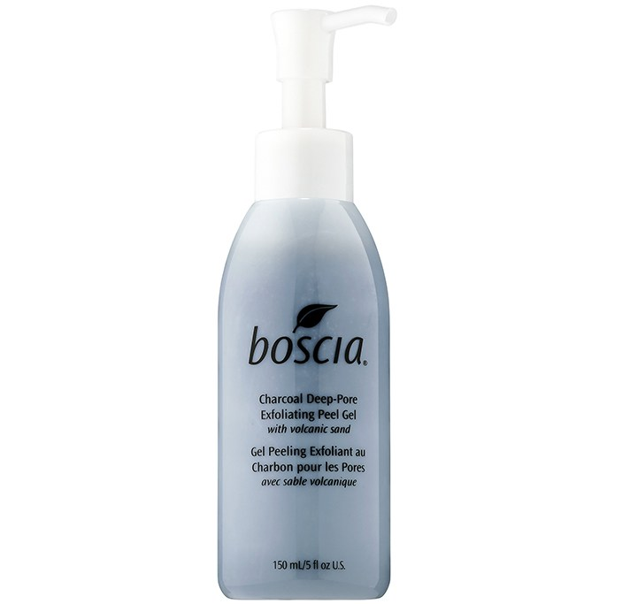Best At-Home Facials: Boscia Charcoal Deep-Pore Exfoliating Peel Gel with Volcanic Sand