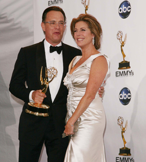 Tom Hanks and Rita Wilson celebrate his win