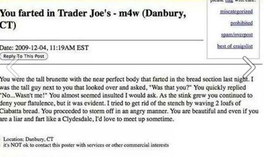 Trader Joe's Fart personals