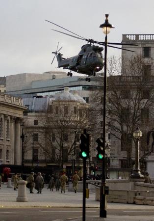 Trafalgar Square helicopter