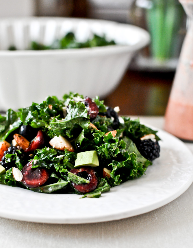 Triple Berry Kale Salad