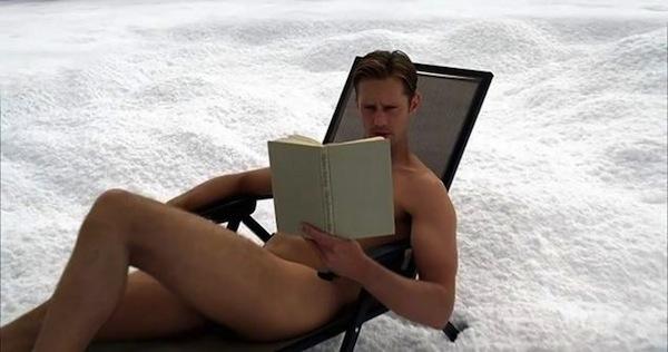Eric reads in True Blood