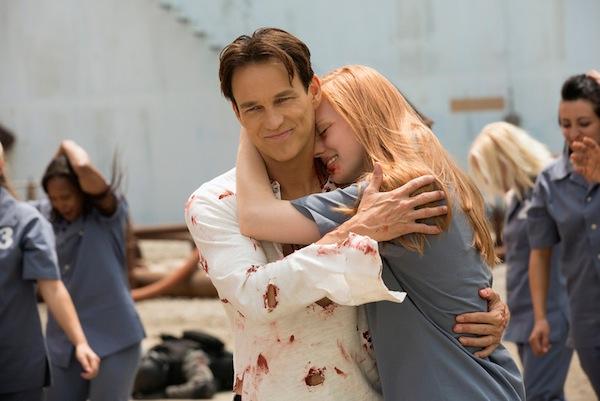 Bill and Jessica celebrate in True Blood