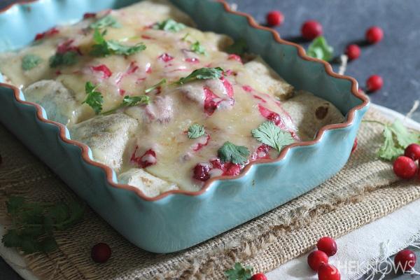 Turkey cranchiladas
