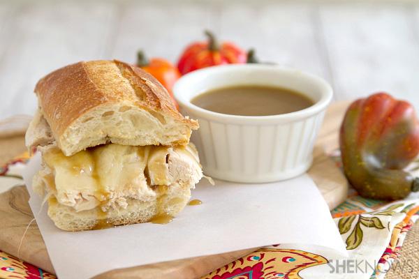 turkey dip sandwich
