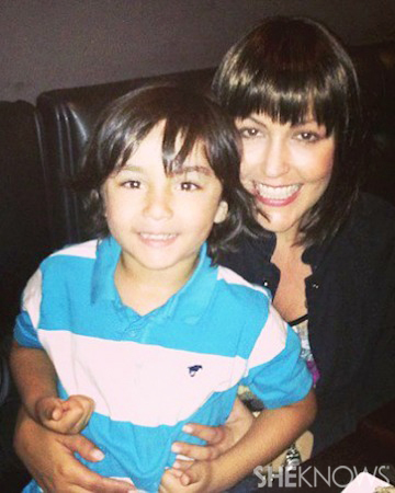 Jennifer Chidester during chemo with her son, Tyler