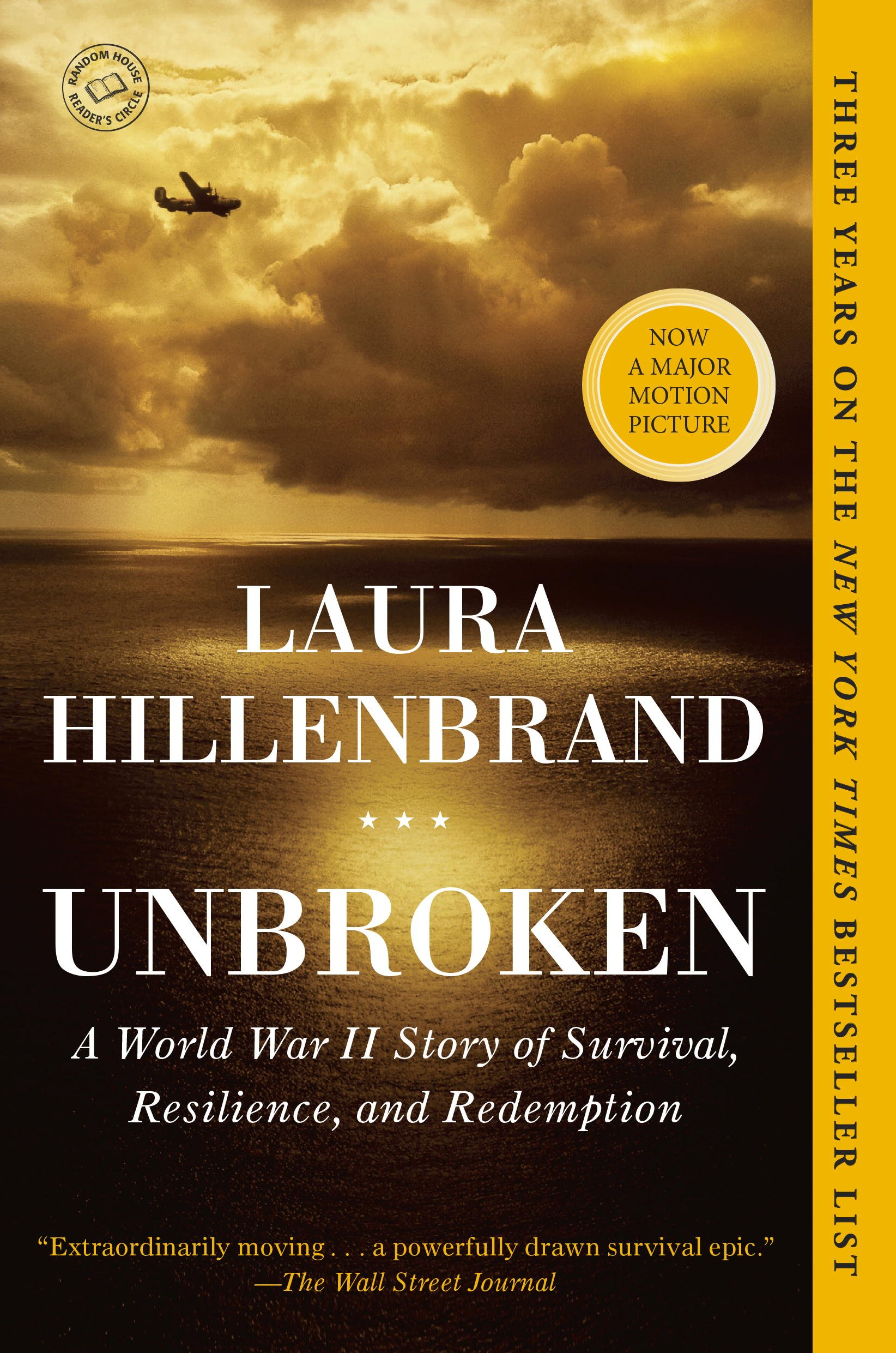 Unbroken: A World War II Story of Survival, Resilience, and Redemption, by Laura Hillenbrand