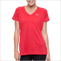 UA Tech Short Sleeve Tee in Red