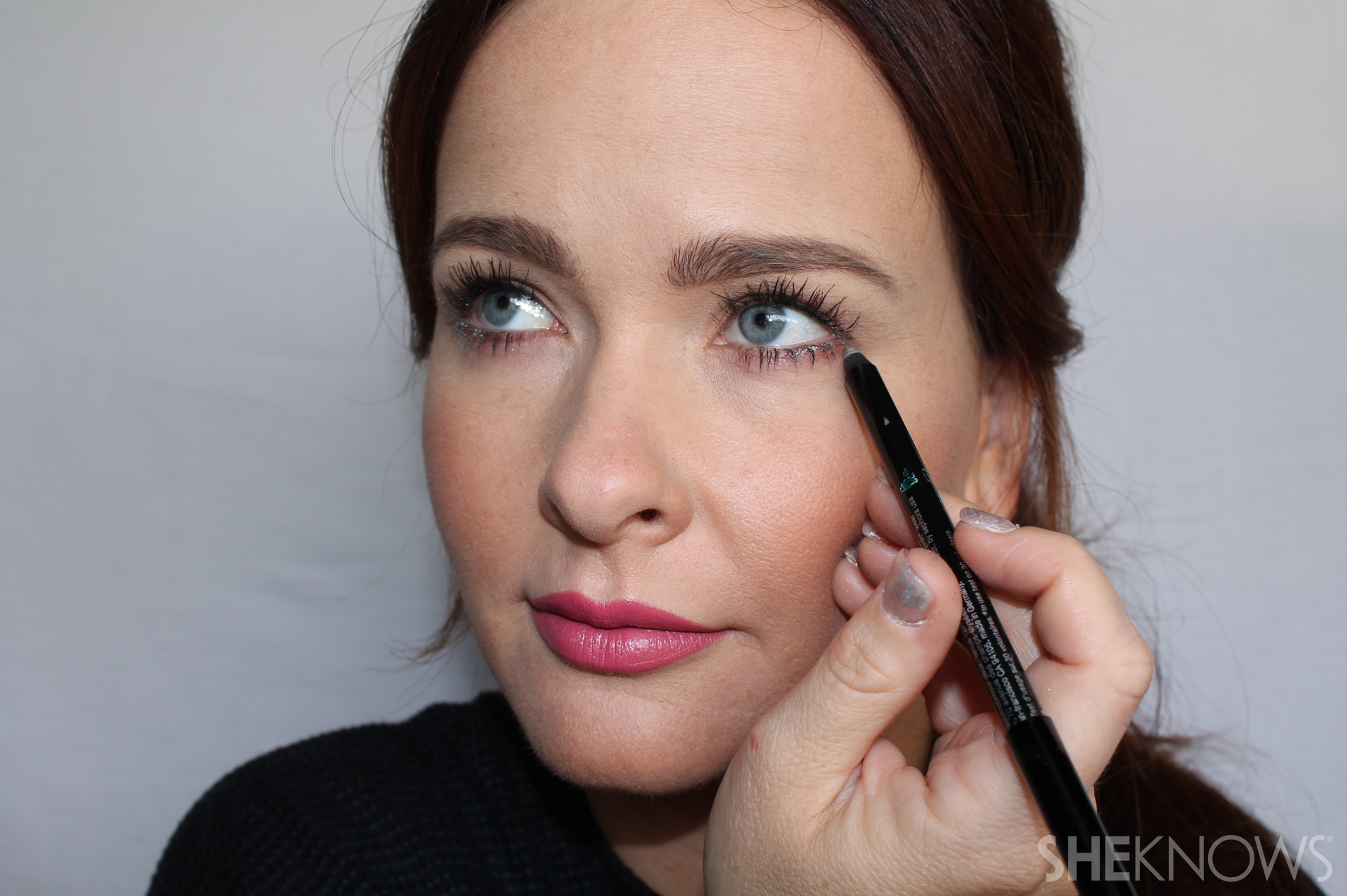 Undereye Step 1: Draw straight line across your lower lash