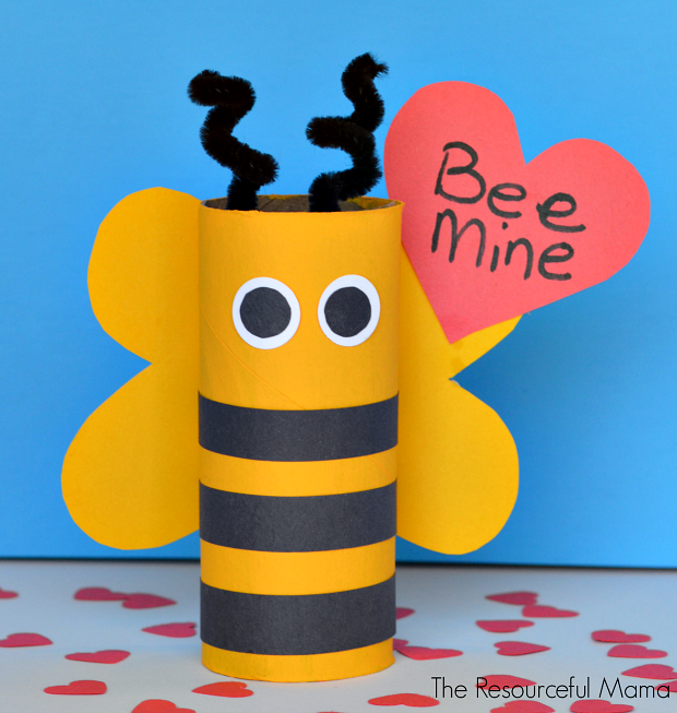 Valentine's crafts for kids | Upcycled Bee