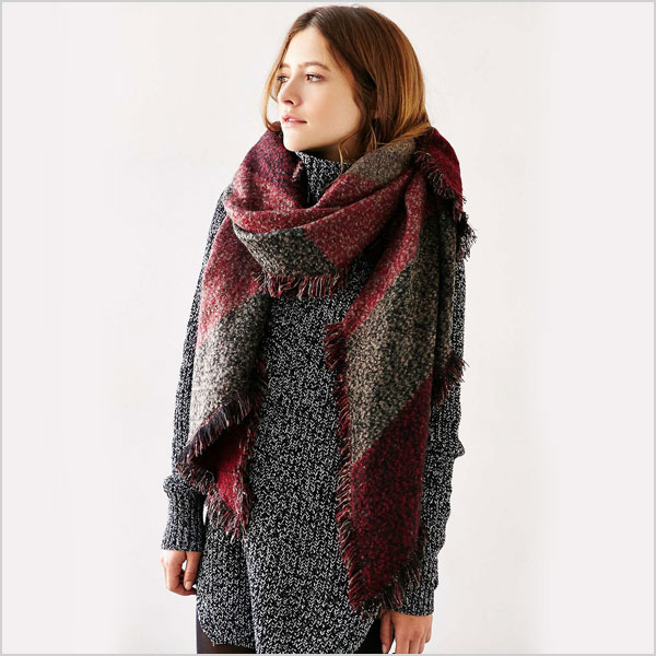 Urban Outfitters Oversized Geo Blanket Scarf