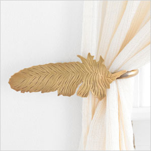 feather curtain tie-back