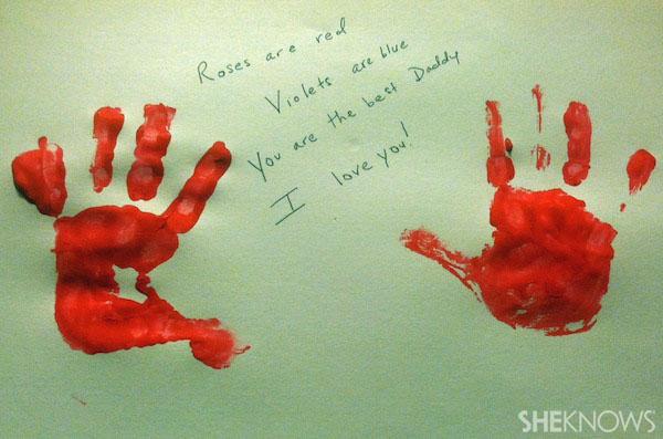 Handprints for Valentine's Day