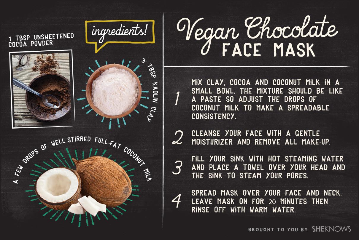 Vegan chocolate face mask