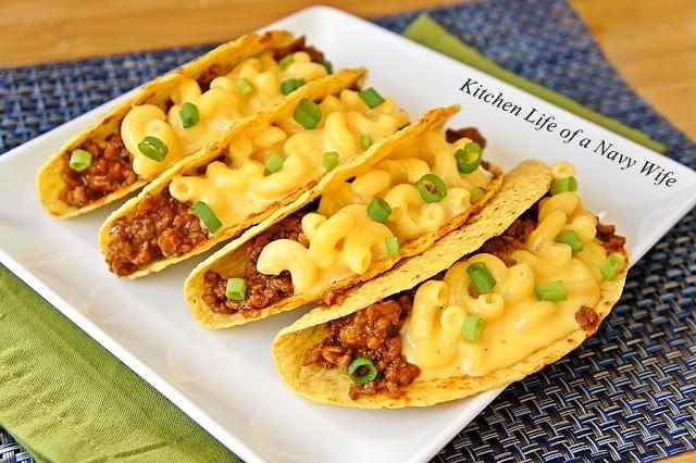 Velveeta mac and cheese tacos