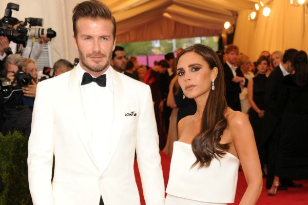 David and Victoria Beckham at The Met Ball 2014