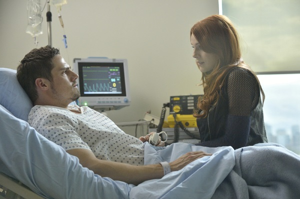 Vincent and Tori in hospital