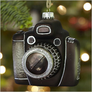 Vintage camera ornament