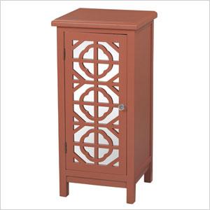 Vivienne Single-Door Mirrored Cabinet