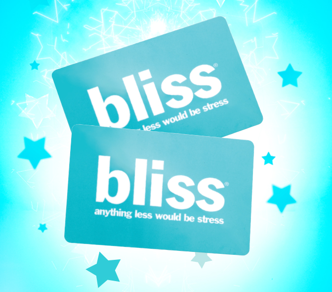Spa gift card Image: Bliss