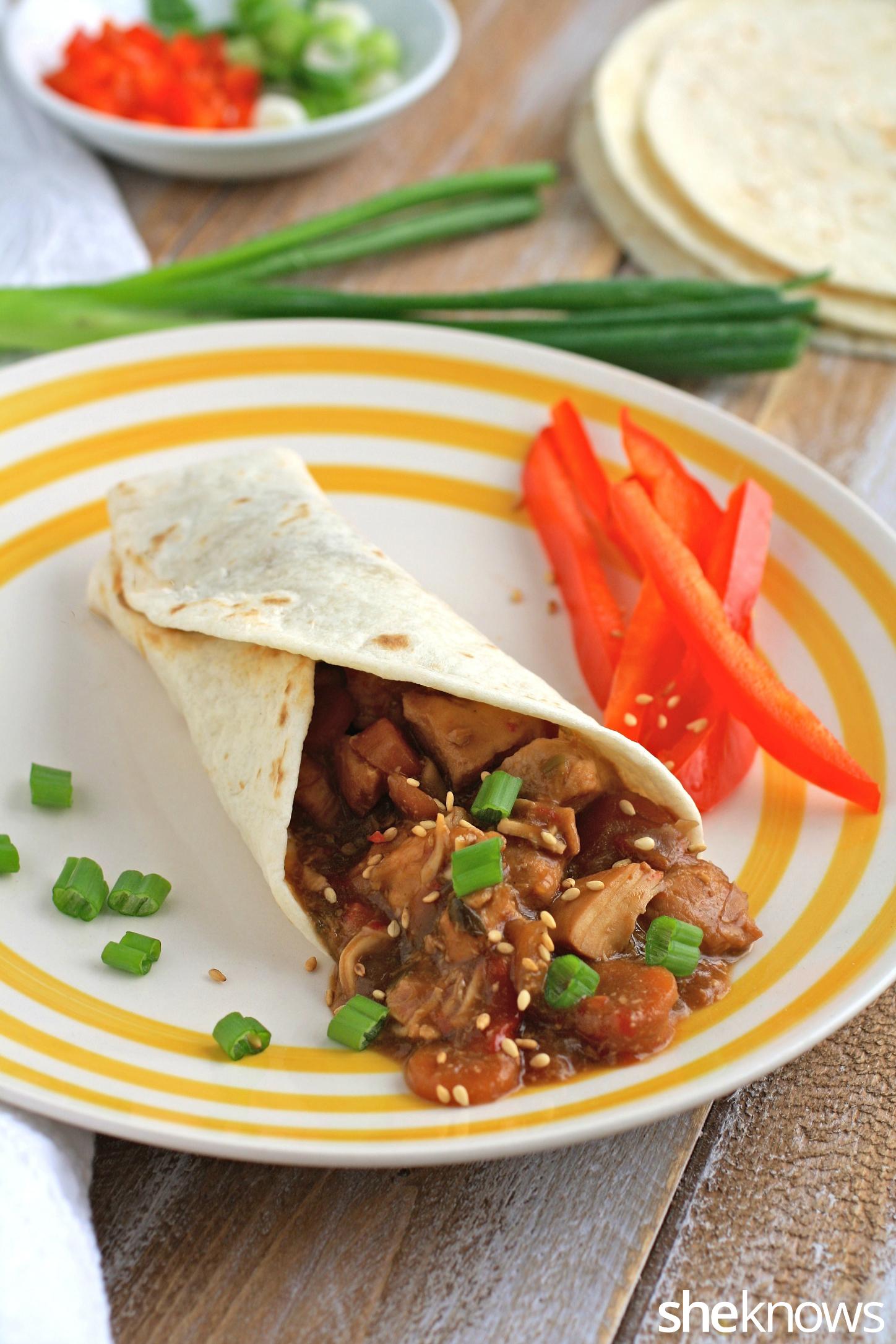 Serve slow cooker mu shu chicken for a tasty dinner