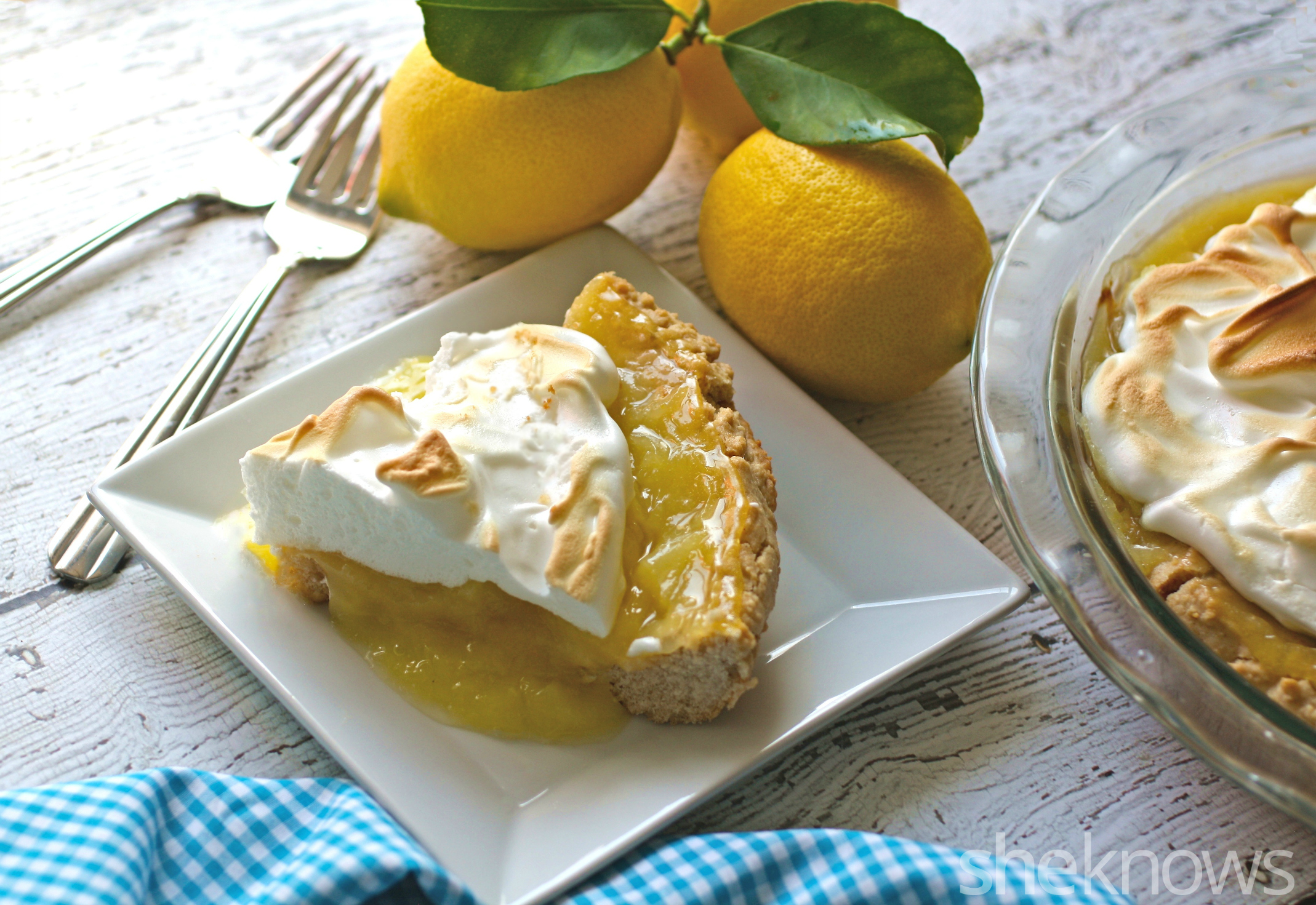 One pie of gluten-free lemon meringue pie with graham cracker crust will have you thinking of spring