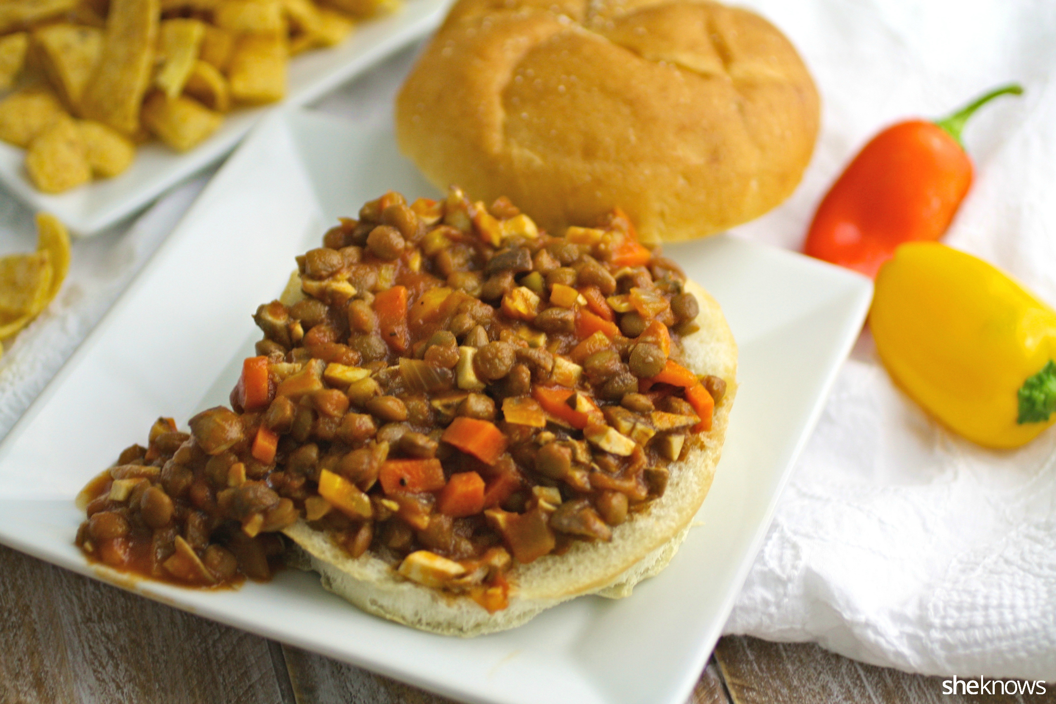 These lentil and mushroom sloppy Joes are sure to please