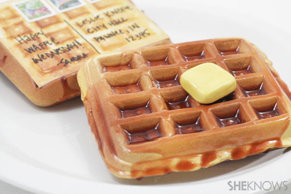 waffle postcard