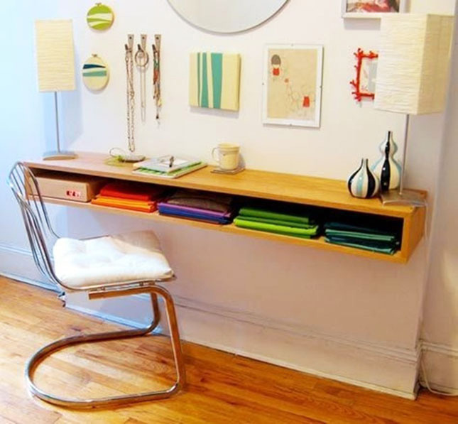 Why wall-mounted desks are perfect for small spaces – SheKnows