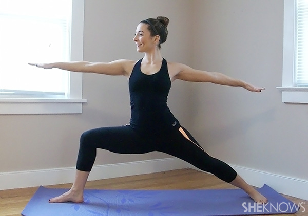 Top 5 pregnancy poses -- Warrior II