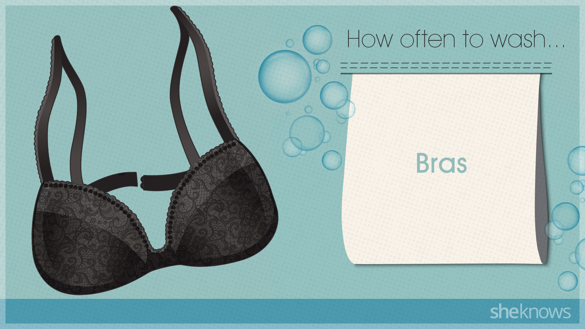 You're probably washing your clothes too much: Bras