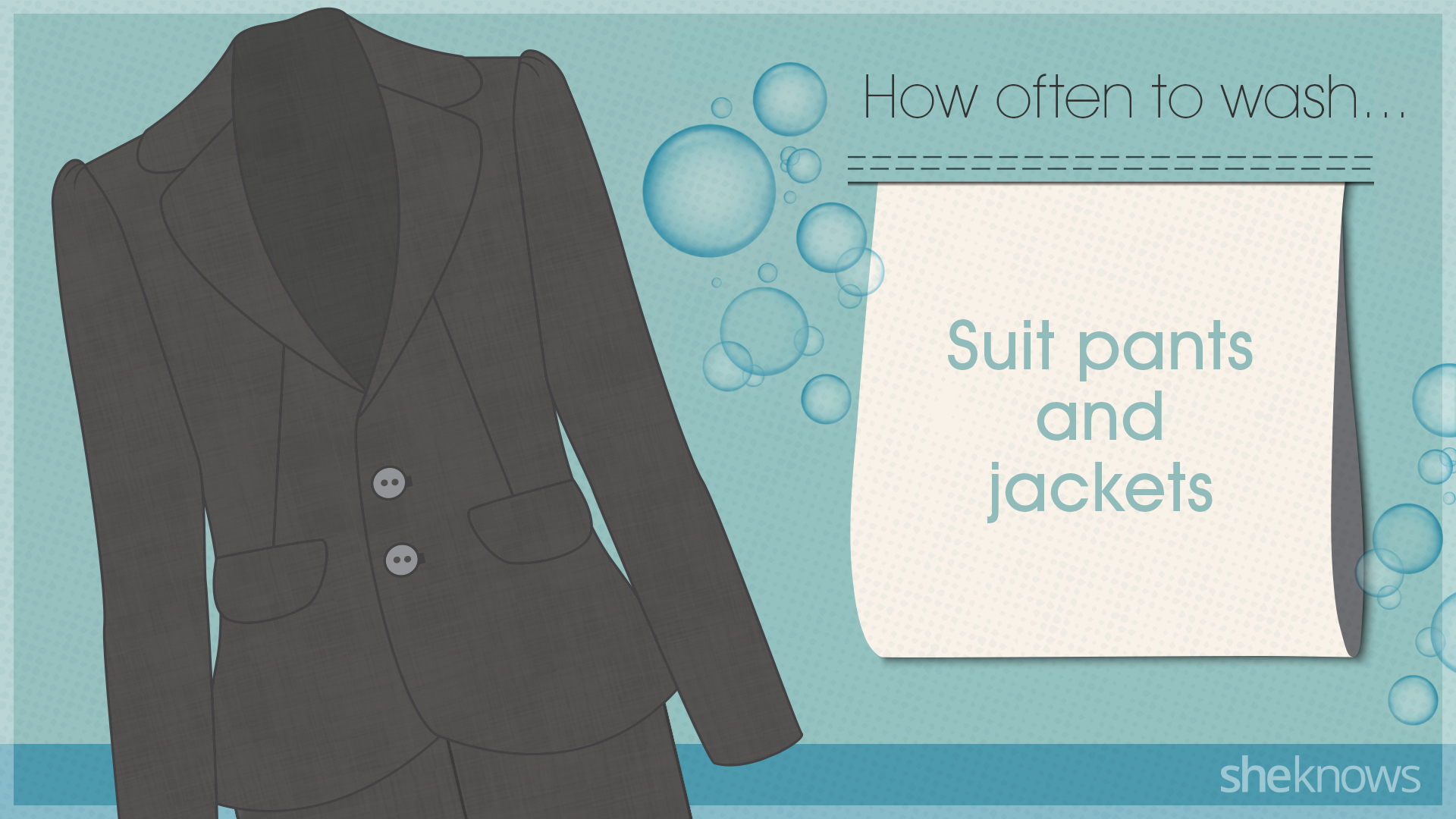 You're probably washing your clothes too much: Suits