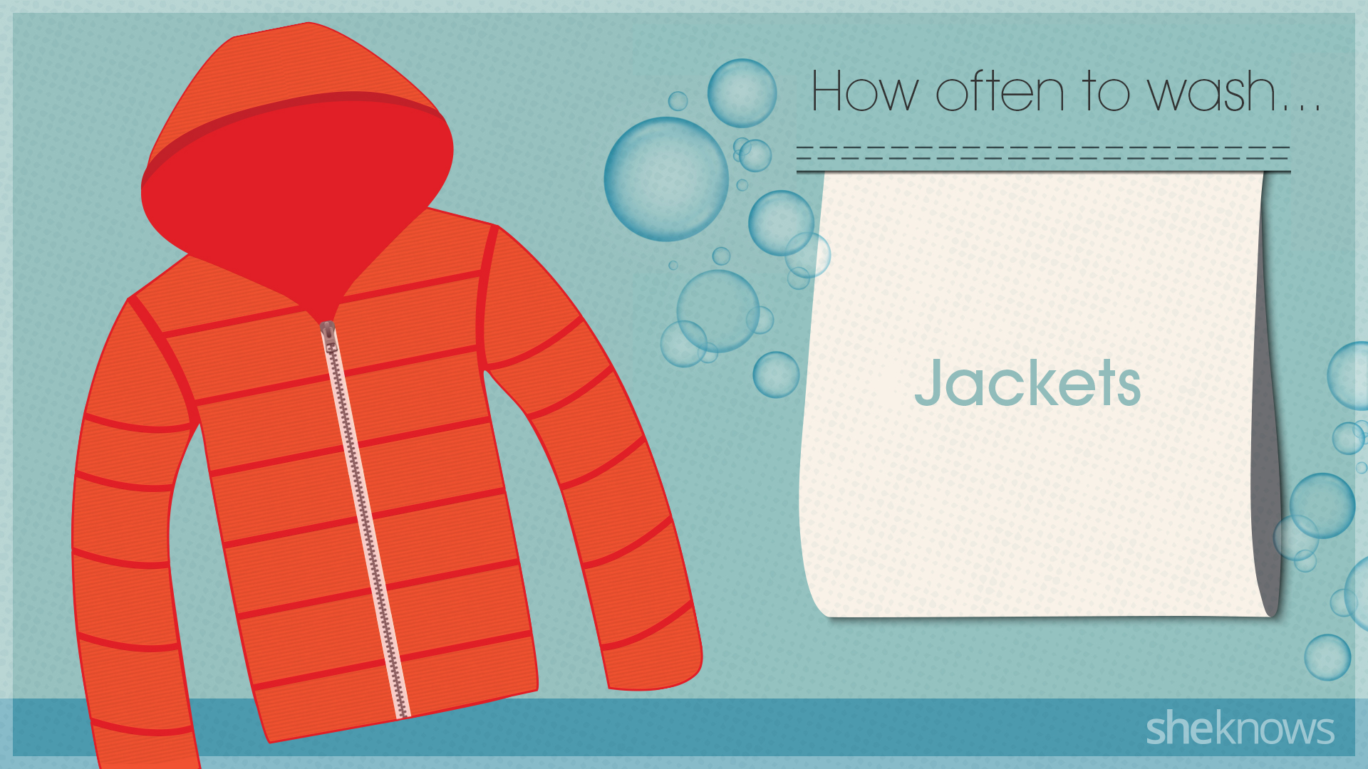 You're probably washing your clothes too much: Jackets