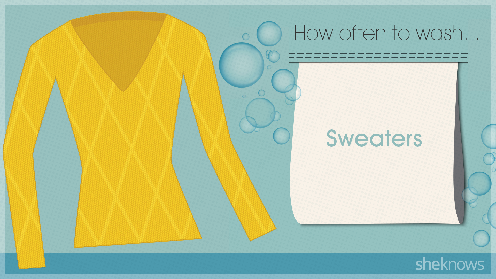 You're probably washing your clothes too much: Sweater