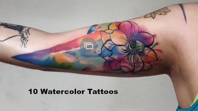watercolor tatts