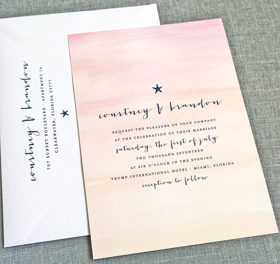 Water color invitations