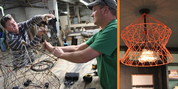 West End Salvage creates awesome lamp
