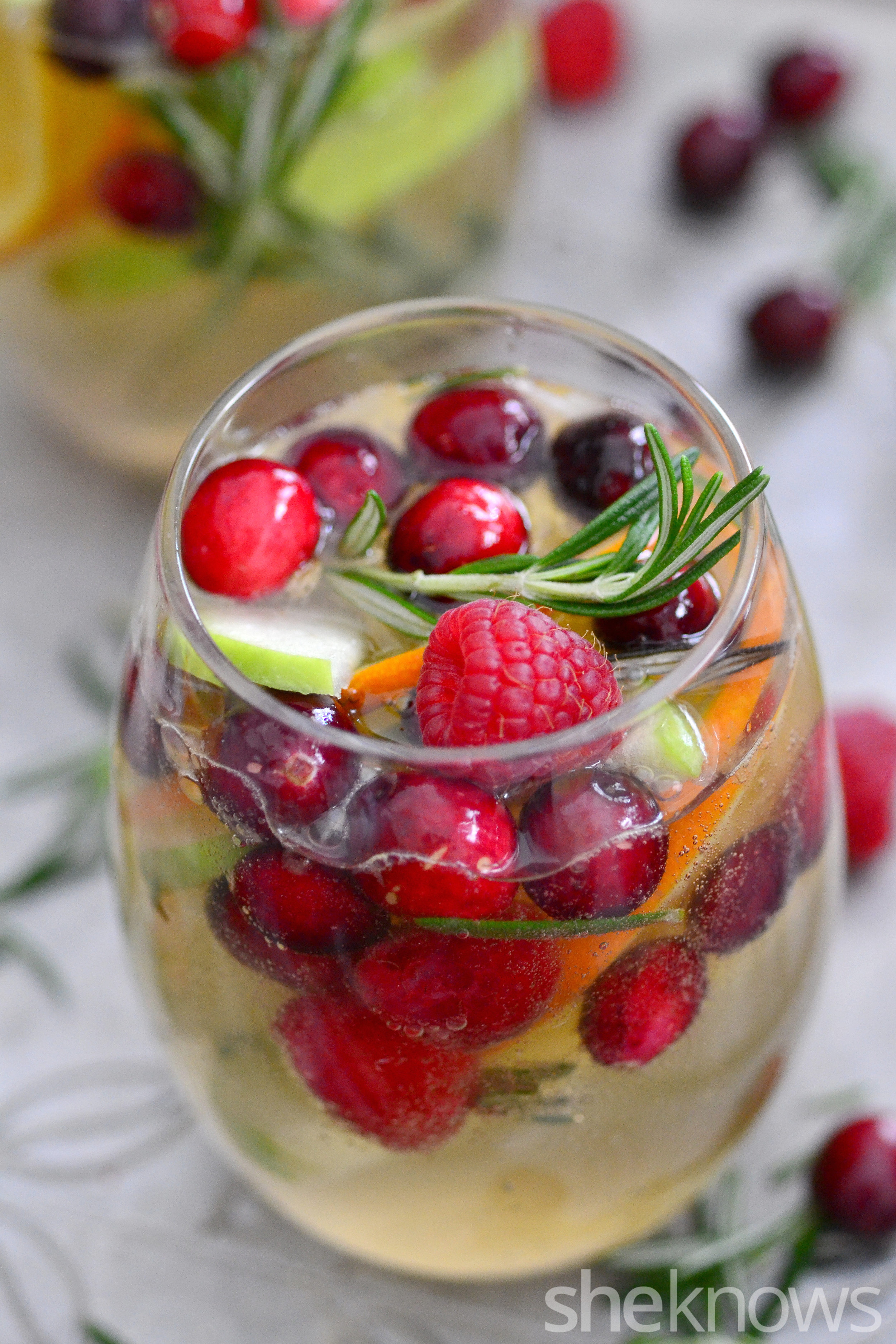 Christmas Sangria.A White Christmas Sangria Recipe That Will Put You In A