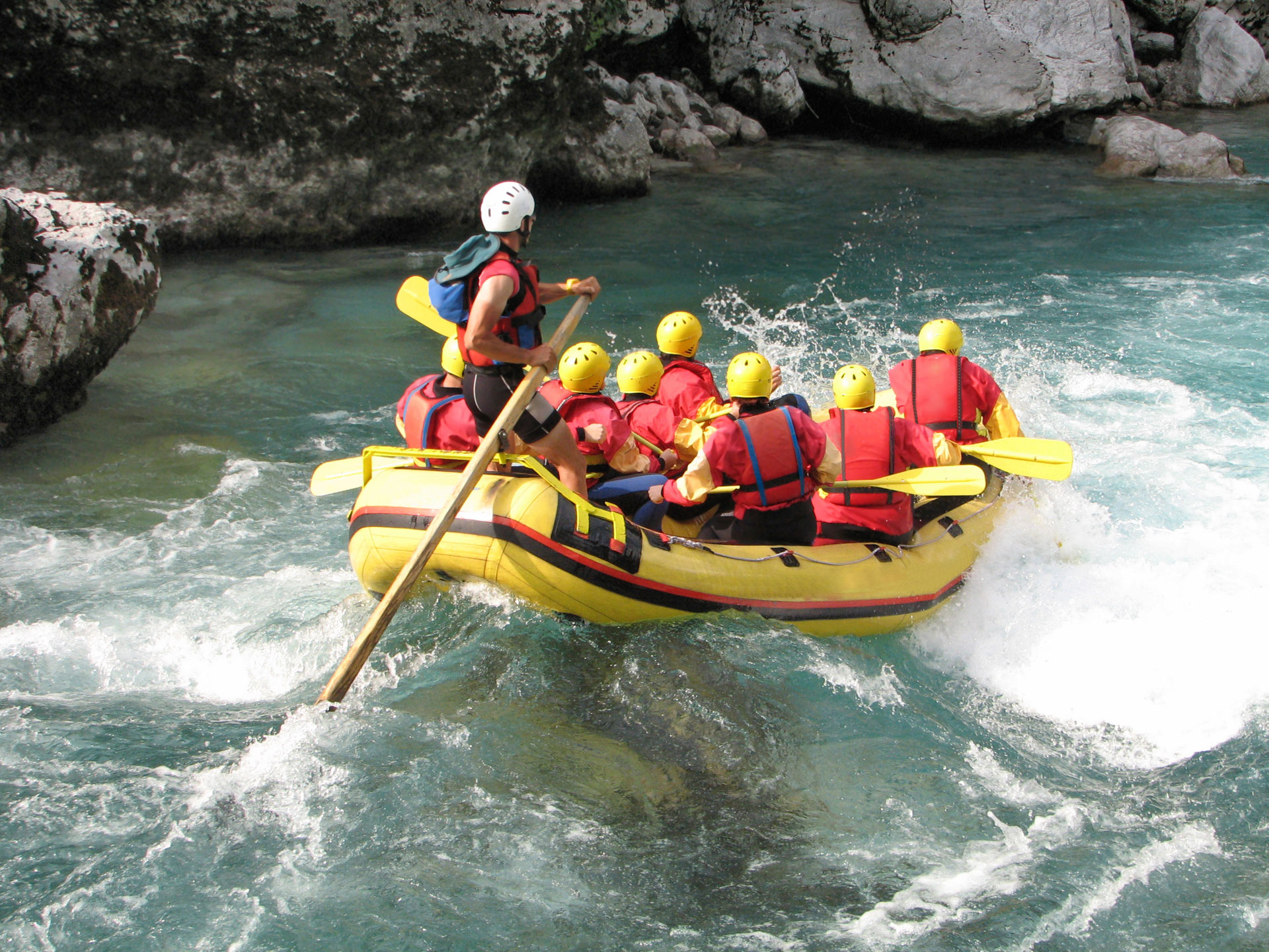Raft the rapids