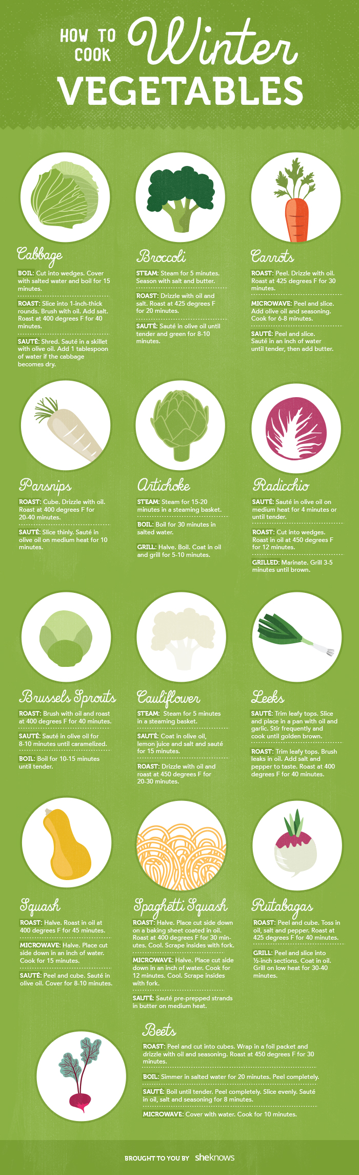 How to cook winter vegetables